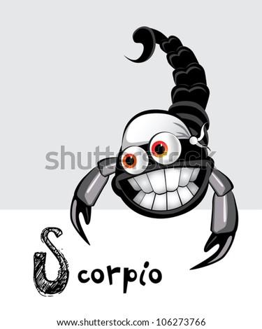 scorpio zodiac - stock vector