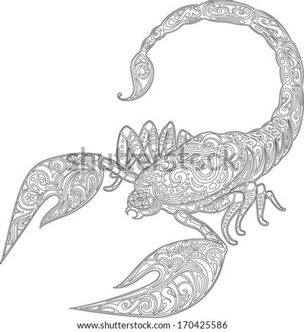 Scorpion - circuit - stock vector