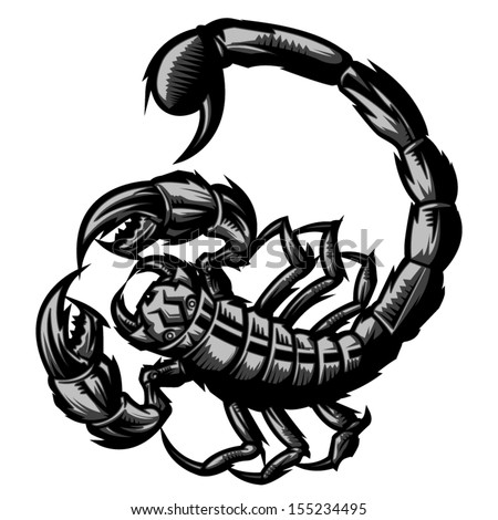 Scorpion representing Scorpio zodiac sign or just a sharp vector graphic for general use. Layered and easy to edit.