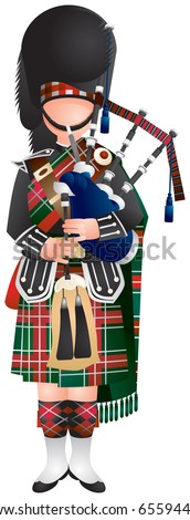 Bagpipes stock photos illustrations and vector art