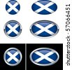Scottish Flag Buttons - stock photo