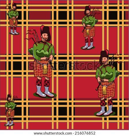 Scottish pattern  - stock vector