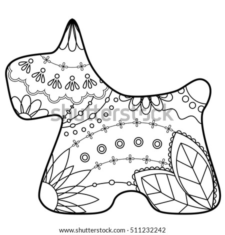 scottie dog coloring page - scottie dog silhouette clip art sketch coloring page