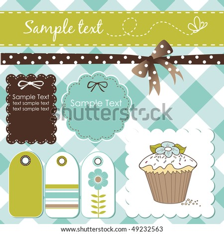 scrap-booking elements - stock vector