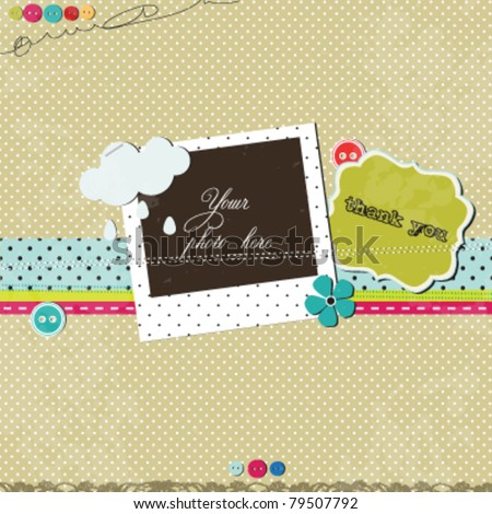 Scrap template - stock vector