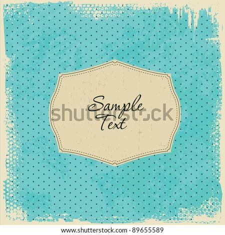 Scrap Template Card - worn grunge design - stock vector