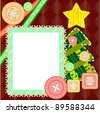 Scrapbook Christmas card - stock vector