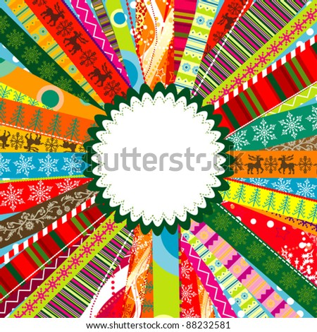 Scrapbook christmas patterns for design, vector illustration - stock vector