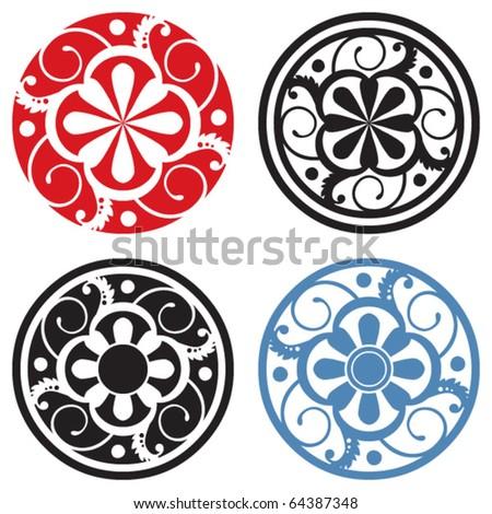 scrapbook design elements, abstract floral ornaments - stock vector