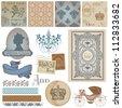Scrapbook Design Elements - Vintage Royalty Set - in vector - stock vector