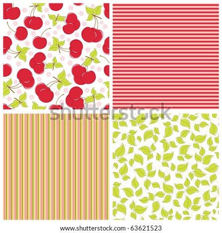 Scrapbook elements. Collection of summer seamless patterns (EPS10) - stock vector