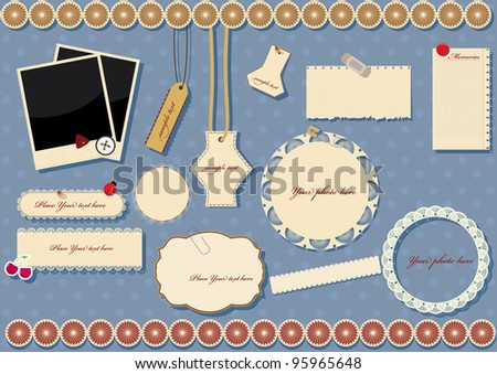 scrapbook elements. vector illustration - stock vector