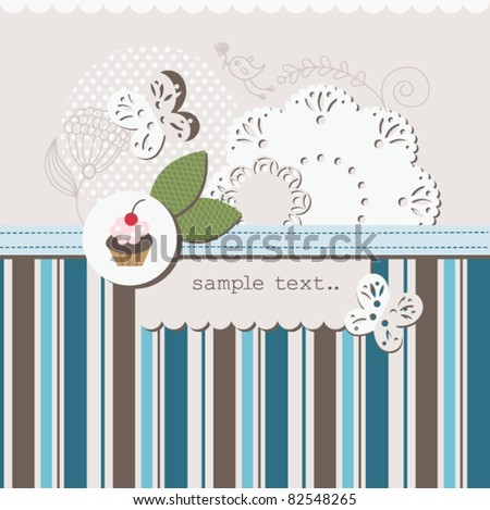 scrapbook elements with place for your text - stock vector