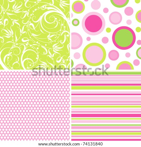 Scrapbook patterns for design, vector illustration - stock vector