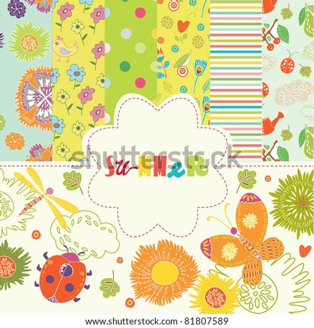 Scrapbook Summer flowers