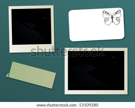 Scrapbook, vector illustration - stock vector