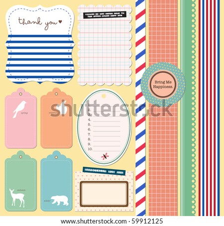 Scrapbooking Elements - stock vector