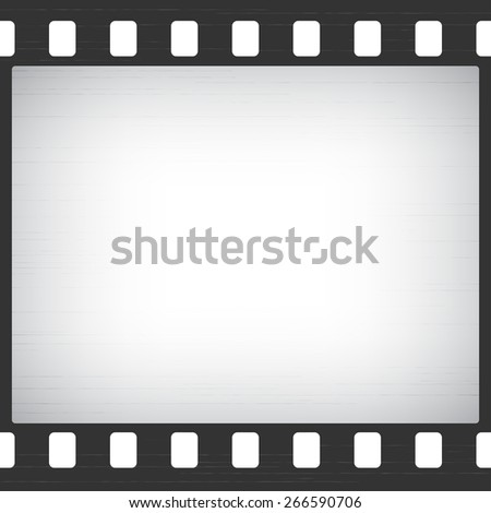 Scratched Old Film Stripe Frame abstract background - stock vector