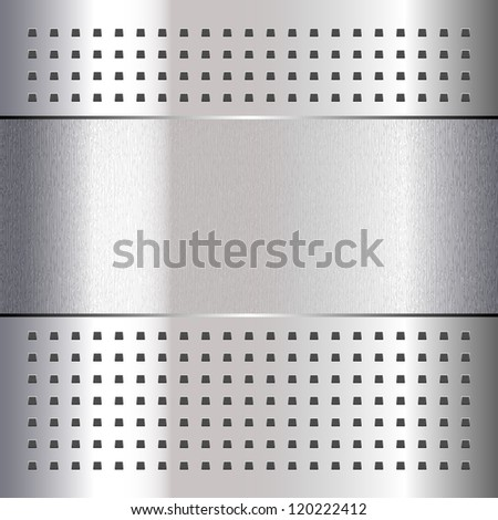 Scratched, on chrome metal background, 10eps - stock vector