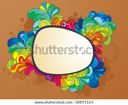 Screaming frame for attracting attention to your design. Hand drawn illustration. - stock vector