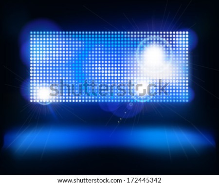 Screen on stage. Vector illustration. - stock vector