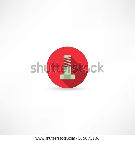 screw-bolt icon - stock vector