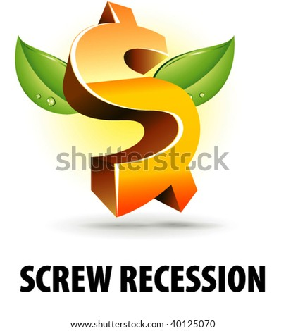 Screw recession - stock vector