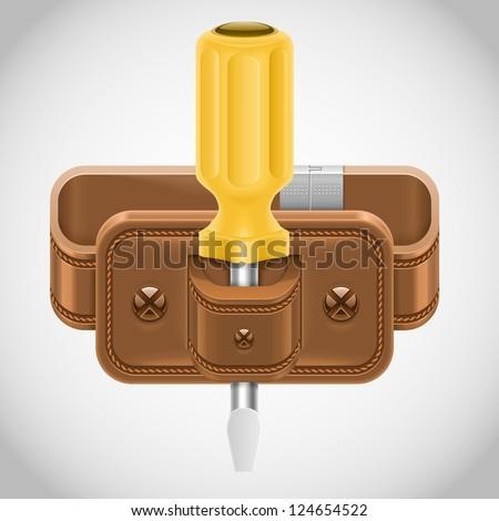 screwdriver in cover vector icon - stock vector