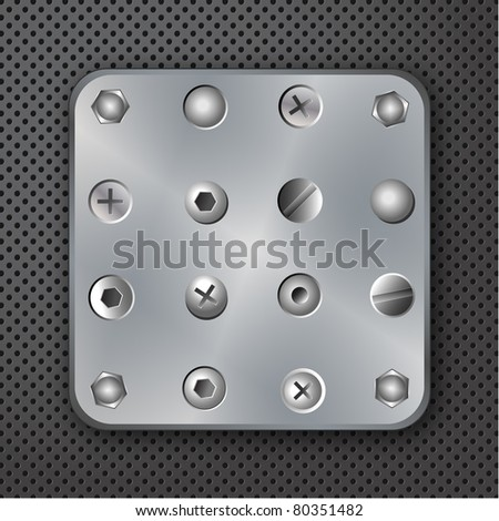 Screws rivets and bolts vector illustration - stock vector