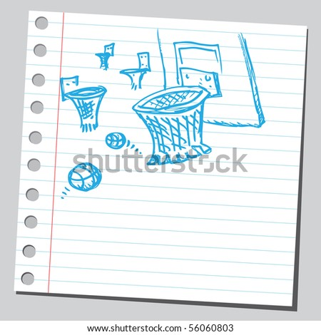 Scribble basket ball