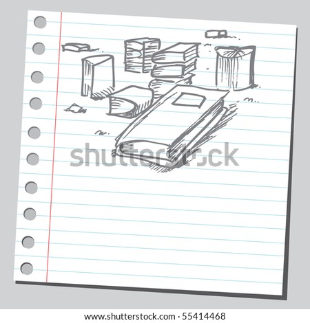 Scribble books - stock vector