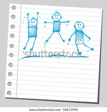 Scribble exercise - stock vector