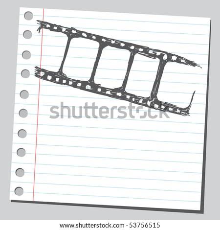 Scribble filmstrip - stock vector