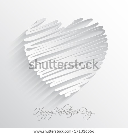Scribble heart design for Valentine's Day - stock vector