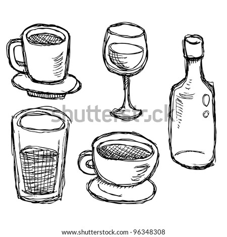 scribble series - drinks