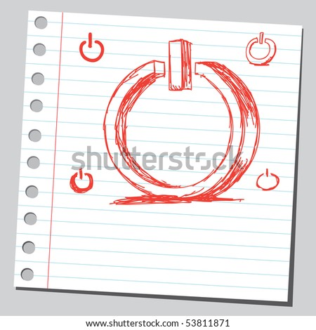 Scribble stand by sign - stock vector