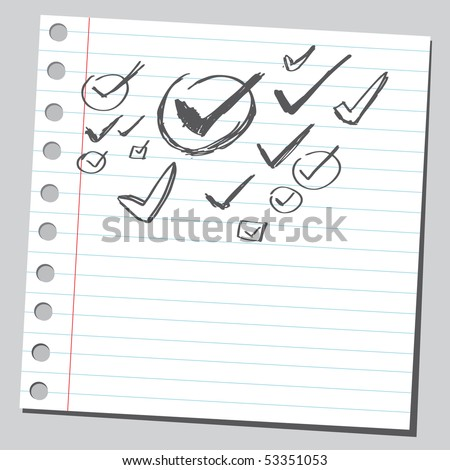 Scribble vote sign - stock vector