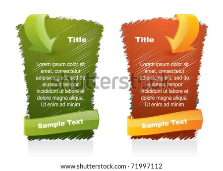Scribbled web style elements - advertising banner - stock vector