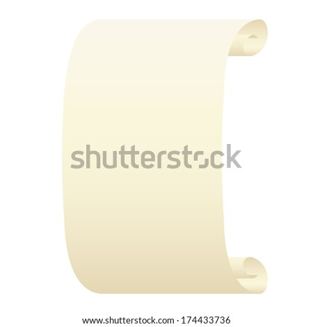 Scroll on a white background. - stock vector