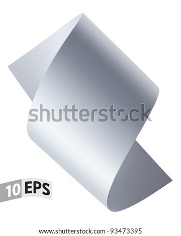 Scroll paper vector - stock vector
