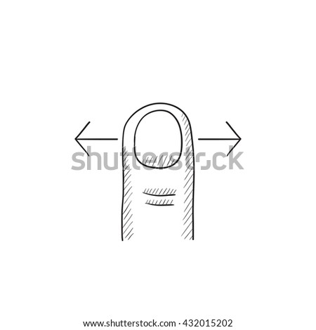 Scroll touch screen gesture vector sketch icon isolated on background. Hand drawn Scroll touch screen gesture icon. Scroll touch screen gesture sketch icon for infographic, website or app. - stock vector