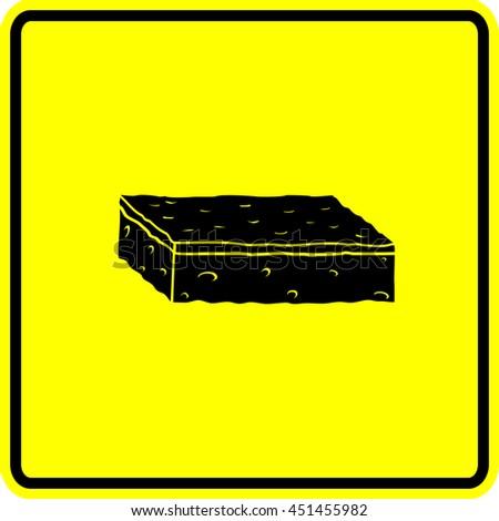 scrub sponge sign - stock vector