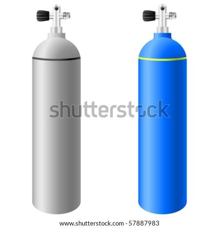 scuba tanks - vector illustration - stock vector