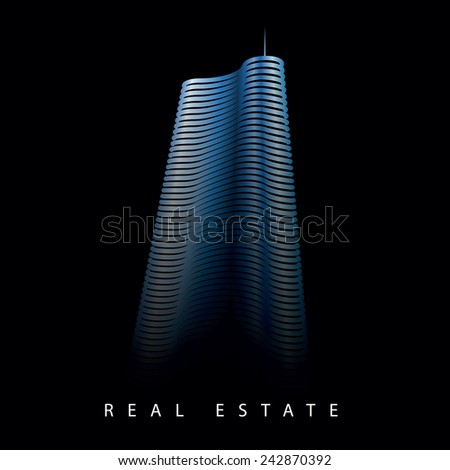 scyscraper office building real estate vector logo template - stock vector