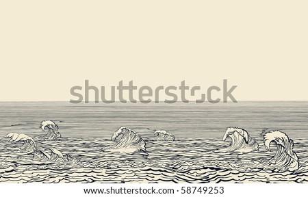 Sea - stock vector
