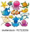 Sea Animals Collection - stock photo