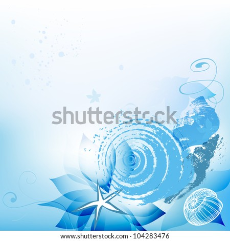 Sea background with shells