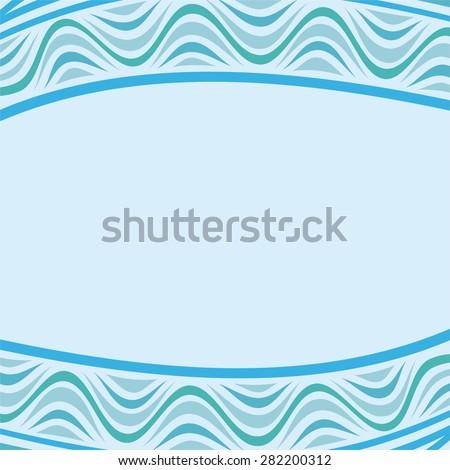 Sea beautiful nature pattern background vector illustration - stock vector