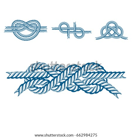 Nautical Rope Knots Stock Illustration - Download Image ...