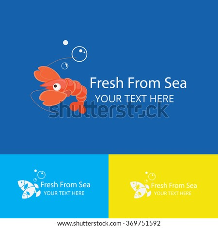 sea food logo,Vector Logo Template - stock vector